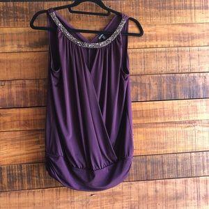 Express dark purple tank